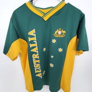 Australia Men's Jersey Green Yellow Shirt Medium